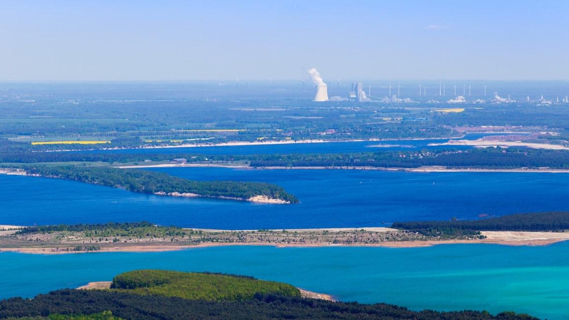 Blick über die Lausitzer Seenlandschaft