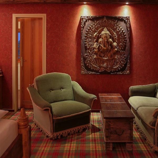 Indische Einrichtung des Wellbesszimmers