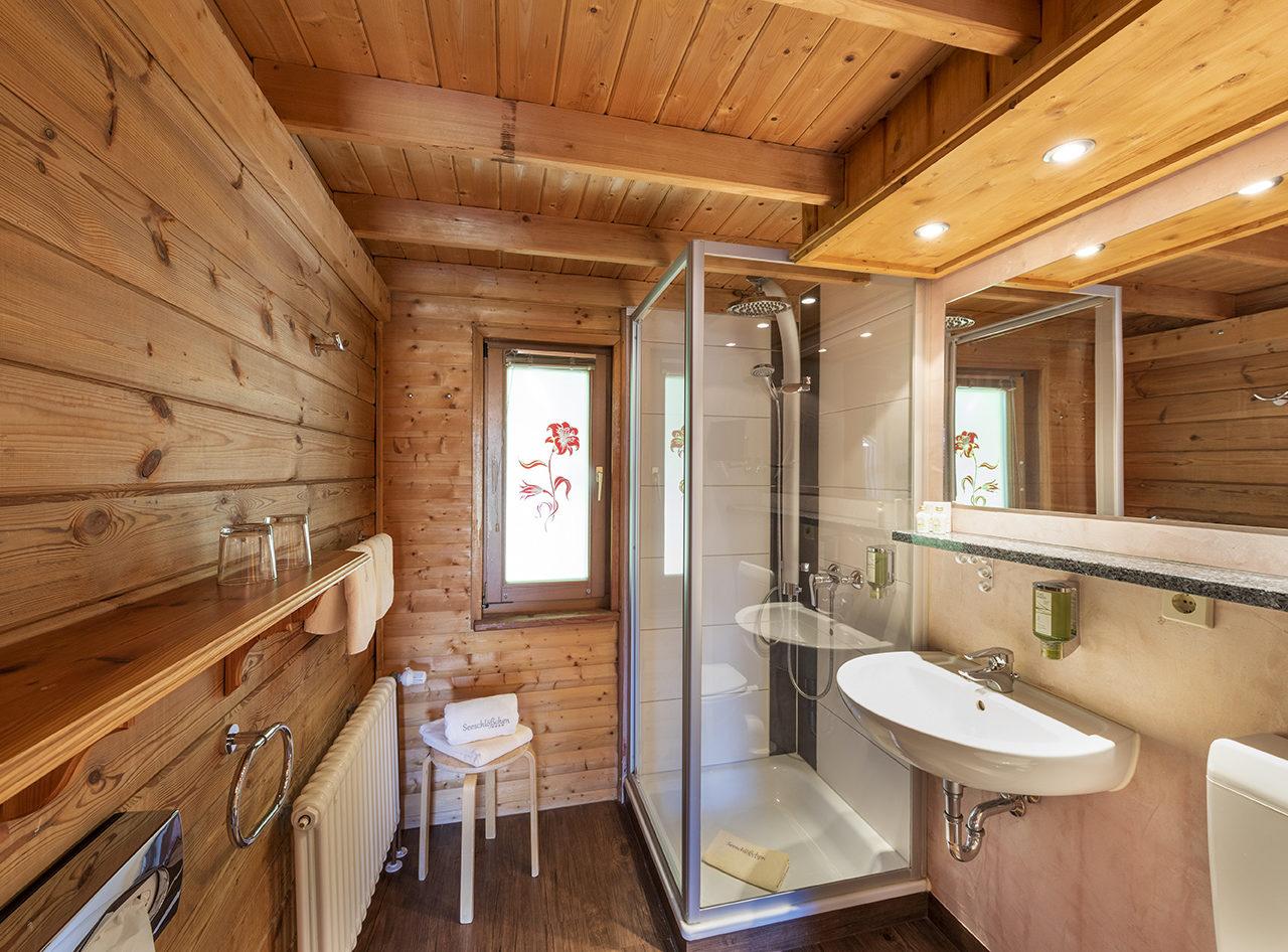 Hütten Appartements Badezimmer