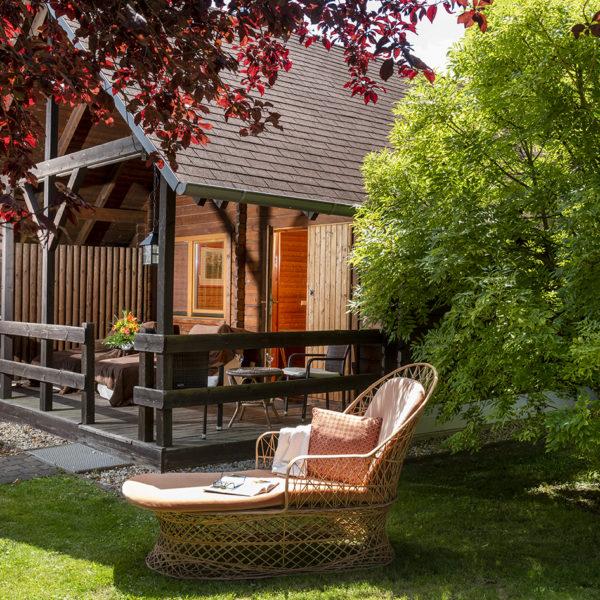 Hütten Appartement mit Terrasse