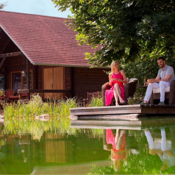Hütten Appartement am Teich