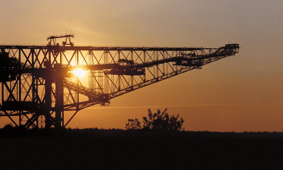 Besucherbergwerk F60 bei Sonnenuntergang Foto D. Seidel