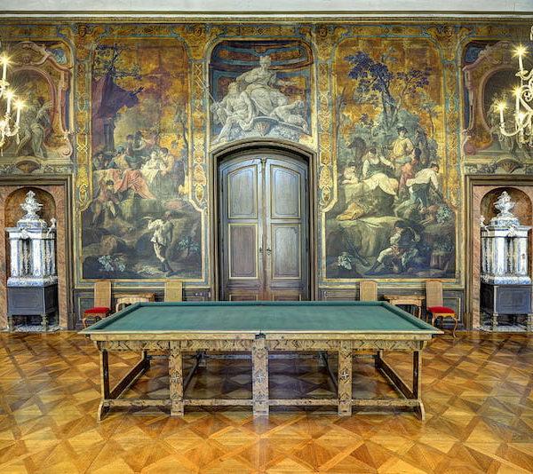 Schloss Moritzburg Billardsaal Fotograf Carlo Boettger schloesserland-sachsen.de
